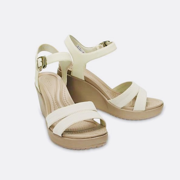 ad281878fc3f CROCS Shoes - Crocs Leigh II Ankle Strap Wedge Sandal